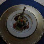 The Lamb Chop entree at the Inaugural Dinner