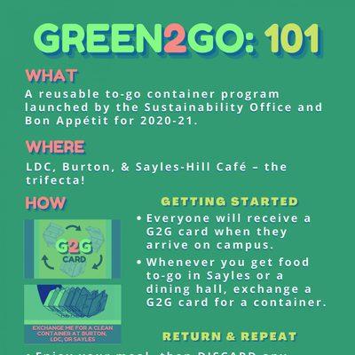 Green2Go: 101