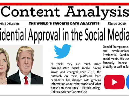 Media placard reading 'presidential approval in the social media age'