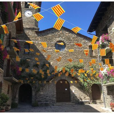 Catalan Flags captured by Hannah Rittman '20