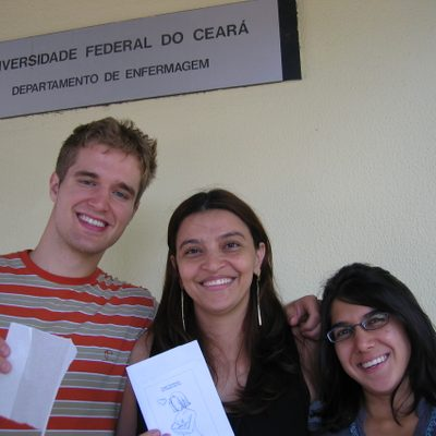 Michael McCulloch '07 (left) and Nazish Zafar '07 (far right)