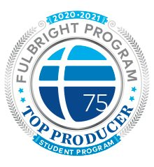 Fulbright Top Producers 2020-21 Badge