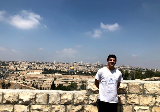 Aaron Forman '21, Paradise Fellowship recipient in Jerusalem