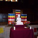 Chapel Altar for Buddhist Vesak Celebration on May 26, 2013