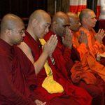 Monks at Buddhist Vesak Celebration on May 26, 2013