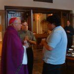 Archbishop Harry Flynn with Carleton Newman Club leaders.
