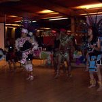 Aztec Dancers at Day of the Dead Celebration