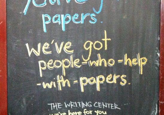 We've got people who help with papers