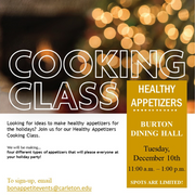 Cooking Class – Tuesday, December 10, 2019