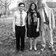 Carleton Responsible Investment Committee Members Fadi Hakim '13, Kristen Vellinger '12, and Professor Joel Weisberg spoke in favor of socially responsible policies at the 3M annual meeting in St. Paul.