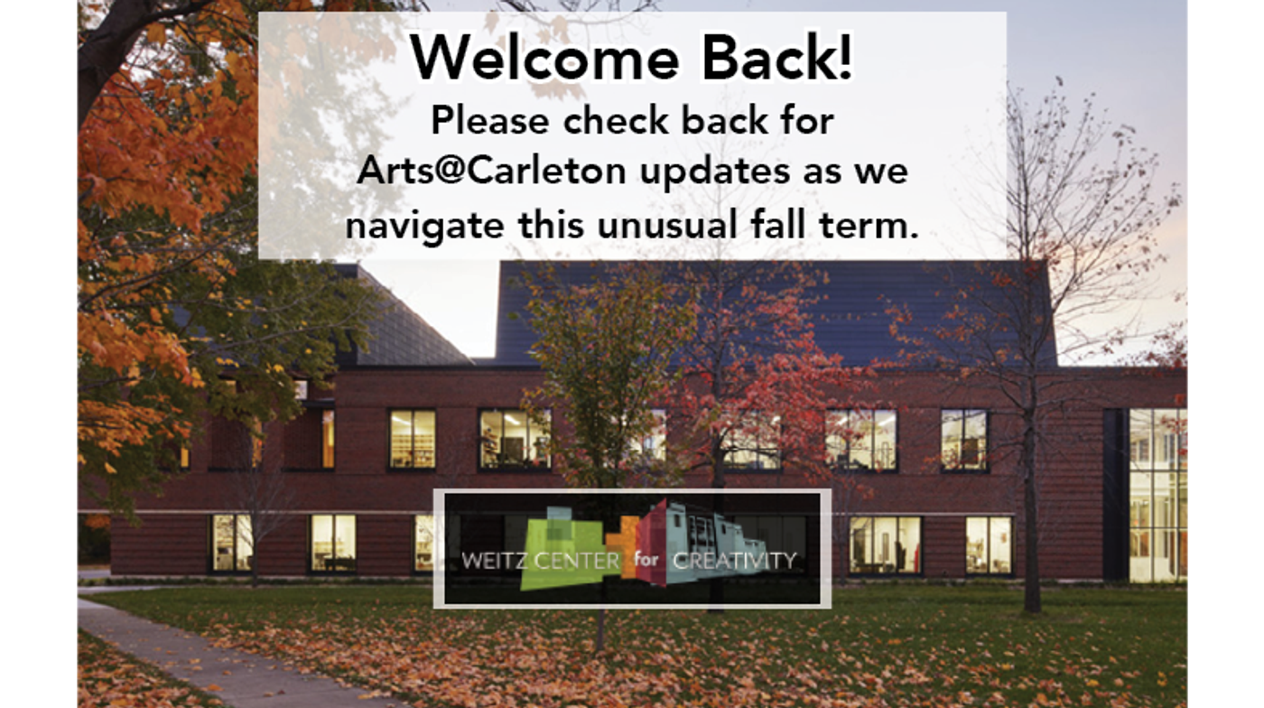 Welcome Back! Check back here for updates as we move through this unusual fall term.