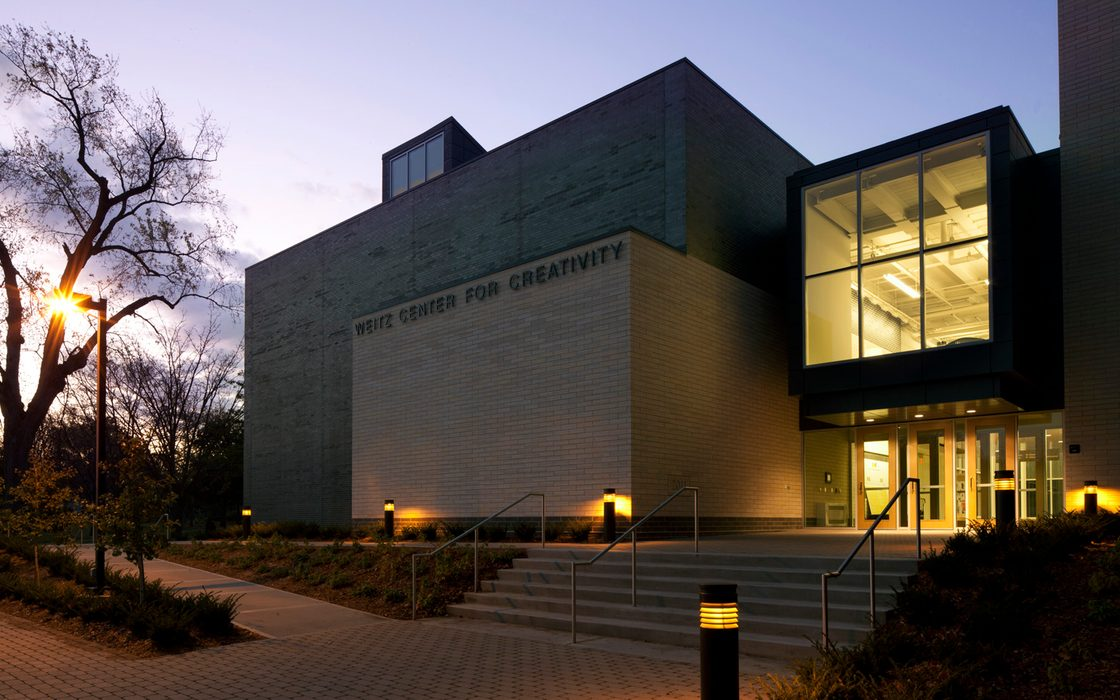 The front entrance of The Weitz Center for Creativity