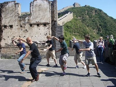 Zhao and Students performing Tai Chi