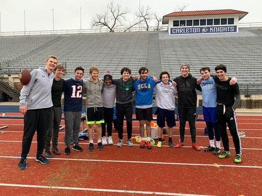 Group shot at the 1-day flag football tournament.