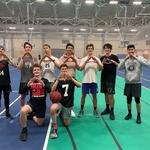 Group shot of the 3x3 basketball term league.