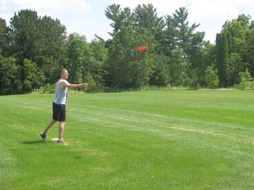 Aaron Chaput plays disc golf