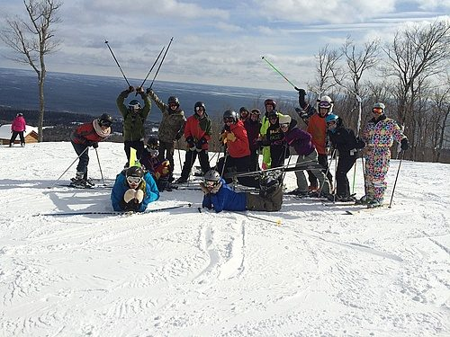 Goofy picture of Ski Club