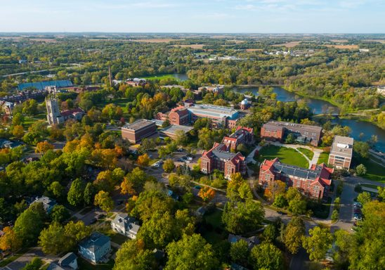 Carleton College Campus from Above