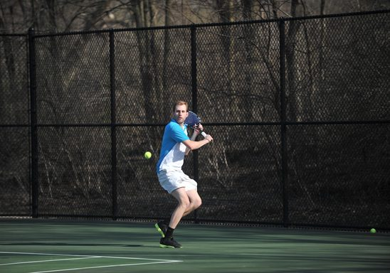 Tennis Courts and player