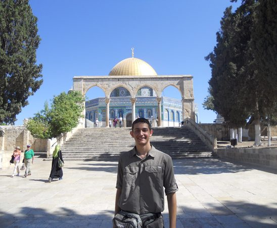 Owen Solis '17 at al-Aqsa Mosque