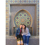 Mika Chmielewski '17 (left) posing with a friend during her study abroad in Rabat, Morocco
