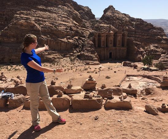 Ana Knighten '20 in Petra, Jordan