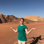 Ana Knighten '20 at Wadi Rum, Jordan