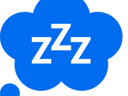 Icon depicting a person sleeping