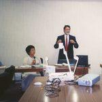 Mark giving a presentation.