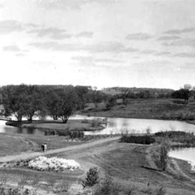 Historic photograph of Carleton's Lyman Lakes.