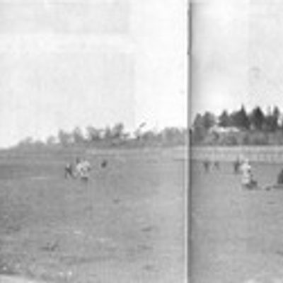 Historic photograph of Carleton's stadium.