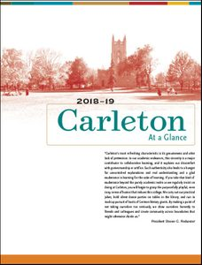 Carleton at a glance fact sheet
