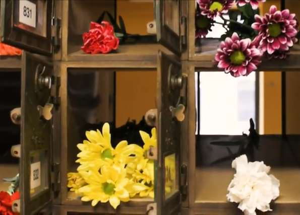 Flowers in P.O. boxes