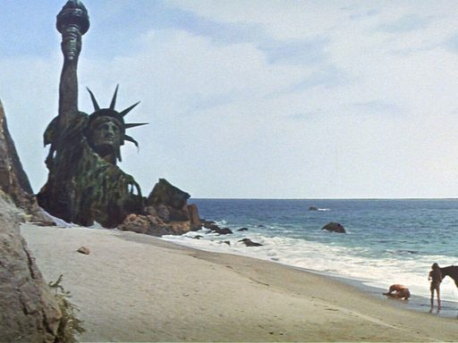film still from Planet of the Apes (1968)