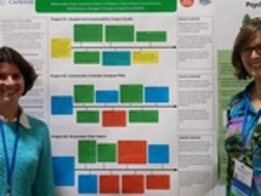 Professor Melissa Eblen-Zayas and Martha Larson present at the 2015 AASHE Conference