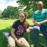 Class of 2017 grads Sarah Goldman and Robert Harris III