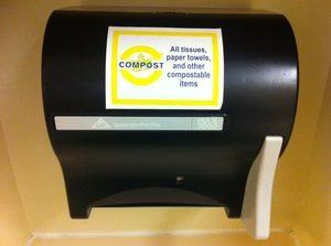 bathroom compostables