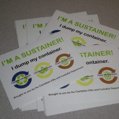 """""""I'm a Sustainer"""" stickers"""