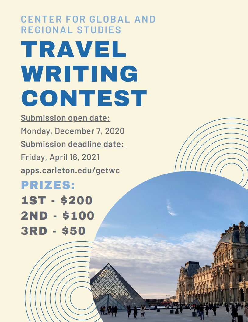 travel writing contest poster
