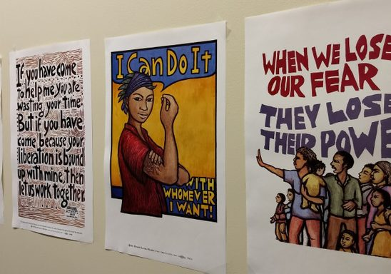 Posters in the WGST lounge