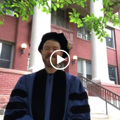professor in academic regalia