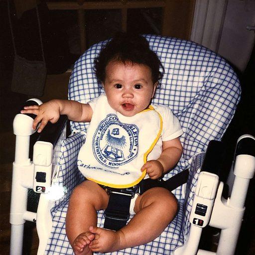 baby wearing a bib