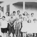 With his students, Boca Raton, 1914-16.