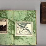 Two books bearing bookplates of the Byrd Expedition.