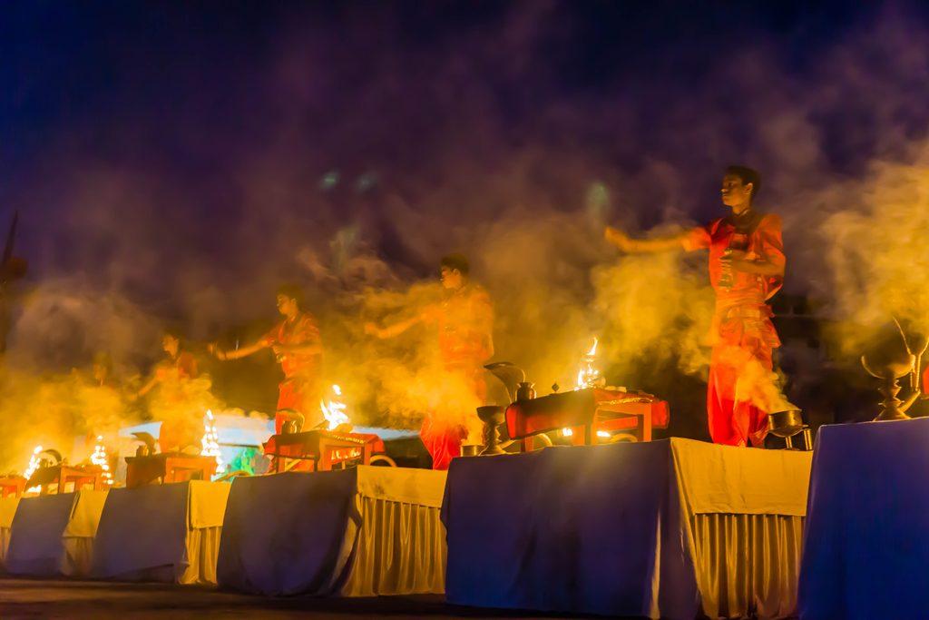 Prayer in Varanasi, India