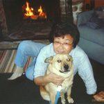 Mariko with her dog Yuuta