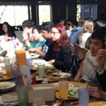 Students gather for weekly Japanese Table lunch.