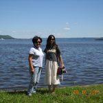 Mariko and Kimie at Lake Pepin