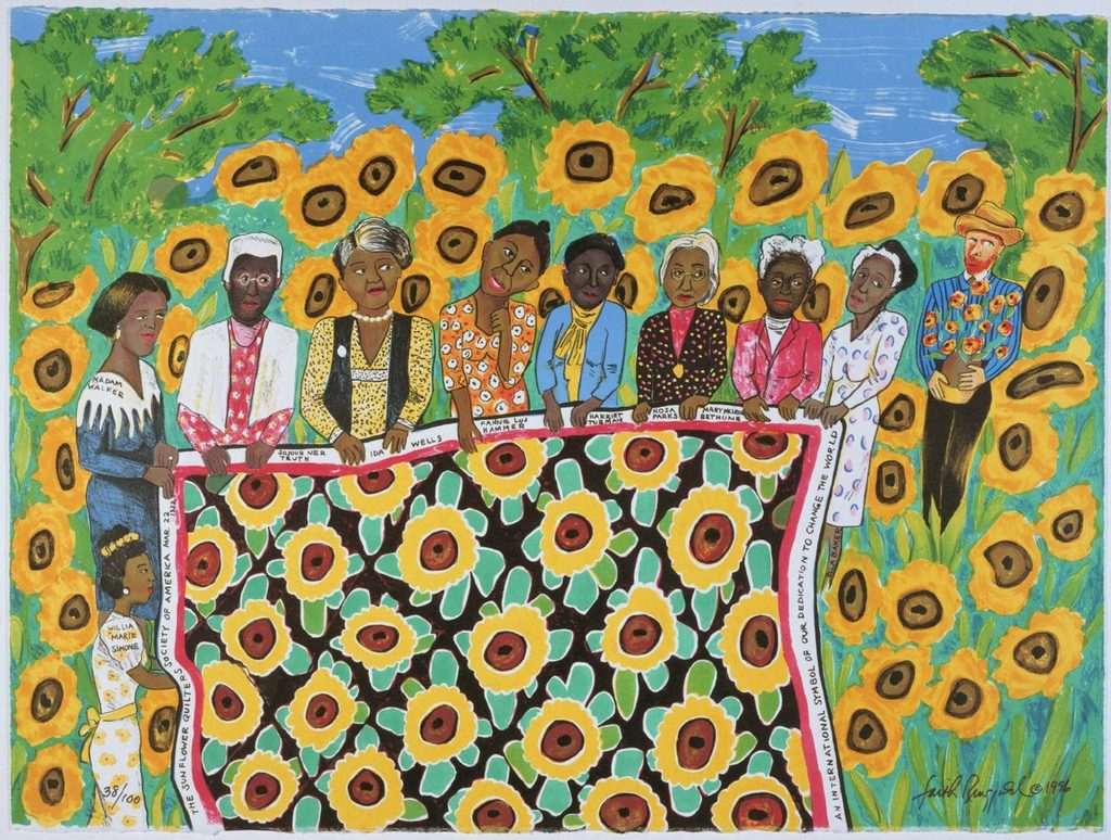 Faith Ringgold, The Sunflower Quilting Bee at Arles