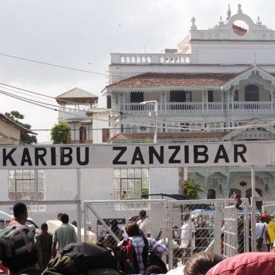 Arriving in Zanzibar for midterm break